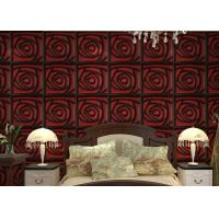 Quality Home Wall European Style Wallpaper Contemporary Mural Leather 3D Wall Panel for Hotel / Office for sale