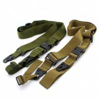 Quality 3 Point Tactical Gun Sling , Military Airsoft Adjustable Bungee Gun Strap for sale