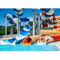 Quality Customized Long Spiral Water Slide 12m Platform Height 890 Riders / H Capacity for sale