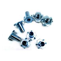 China 4.8 / 8.8 Gread Carbon Steel Galvanized / HDG T Nut Four Claw Nut DIN1624 on sale
