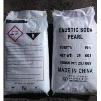 China Industrial Sodium Hydroxide Caustic Soda Pearls 99% CAS 1310-73-2 For Bleach on sale