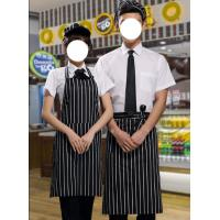 China Chef Clothing,Short Sleeve Chef Jacket with Apron and hat-2 on sale