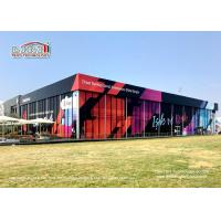Buy cheap Durable Black Double Decker Tents 25 x 50m With Customized Printing from wholesalers