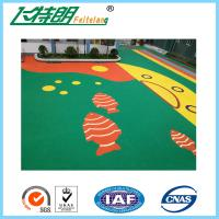 Quality Non - Toxic Recycled Elastic Rubber Gym Mats / Outdoor Playground Flooring for sale