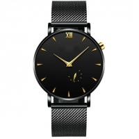 Quality Wholesale Fashionable Mens Thin Watch Waterproof Alloy Analog Men Simple Wrist Watches for sale