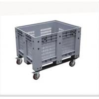 Quality Solid Box Plastic IBC Container HDPE Plastic Pallet Container With Lid for sale