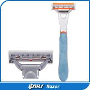 Quality Royal Blue Custom Shaving Razor Shaving Gift Set Metal Alloy With Rubber for sale
