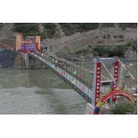 China Anti Skid Steel Bailey Suspension Bridge Used Repeatedly Quaickly Installed on sale