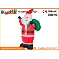 Quality Outdoor Advertising Inflatables Santa Christmas Decoration Size Customized for sale