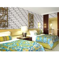 Quality Colorful Graffiti Fiber 3D Wall Coverings Interior Wall Paneling 3D Tiles for KTV , Club , Hotel for sale
