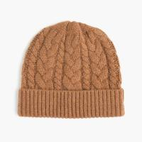 China Simple Design Soft Cable Knit Hat / Mens Cable Knit Beanie For Keep Warm on sale