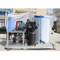 China 10 Tons Industrial Flake Ice Making Machine R22 / R404A Refrigerant New Condition on sale