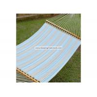 Quality Weather Resistant Single / Two Person Hammock With Spreader Bar And Stand Ocean Stripe for sale