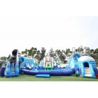 Buy cheap Adult Outdoor Inflatable Water Parks , Pool Obstacle Course Play Equipment from wholesalers