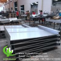 China CNC aluminum cladding facade wall cladding exterior building curtain wall patterned facade ceiling on sale