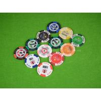 Buy cheap 14G Double Suited Clay Poker Chips Anti Counterfeit Chip With Metal Inside product