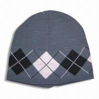 Quality Knitted Hat, Made of 100% Acrylic for sale