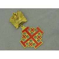 Buy 3D Gold Custom Medal Awards , Zinc Alloy Synthetic Enamel Medal at wholesale prices