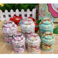 European hot sale ceylon tea tin container with embossing