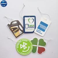 Quality Car Air Freshener Hanging Promotional Advertising Gifts With Sealed Plastic Opp Bag for sale