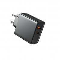 Quality GaN 65W Double Port Wall Charger FCC Short Circuit Protection for sale