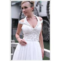 China glossy empire cap sleeves champagne short cocktail party dresses 6082 on sale