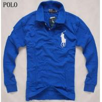 Buy cheap super discount for mens rl long polo shirt with big pony, navy blue from wholesalers
