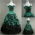 Quality Cosplay Civil War Dress Wholesale Custom Made Victorian Dress Luxury Satin Women Gothic Long Dress Lolita Cosplay dress for sale