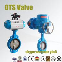 Quality double acting pneumatic butterfly valve or electric actuator butterfly valve for sale