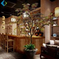 Customized Artificial Maple Plant , Fake Canadian Maple Tree With Gradient for sale
