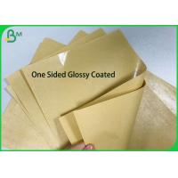 Quality One sided PE Poly Coated 250gsm 270gsm 300gsm Kraft Paper Board for Food Paper Plates for sale