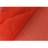 Quality Polyester Fluorescent  Material Fabric Tricot Mesh Fabric Safety Uniform Material for sale