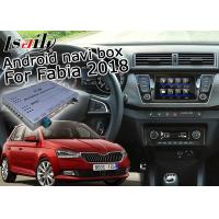 Quality Skoda Fabia Android Navigation Box With 9.2 Inches Rear View WiFi Video Cast Screen for sale