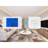 Quality Wireless Digital Programmable Room Thermostat For Gas Boiler With  Large LCD Screen for sale