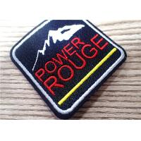 China Environmental 3D Custom Embroidered Patches Sew Iron On For Clothing , Bag on sale