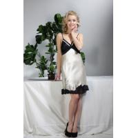 China Ladies Sexy white Satin Night dress on sale