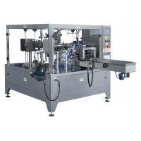 Quality 1 Phase 220V Rotary Pouch Packing Machine 4.5KW Power 2450 * 1880 * 1900mm Size for sale