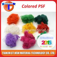 Buy 1.5D-15D Colored Recycled Polyester Staple Fiber, Dope Dyed RPSF for Nonwoven / Spinning Yarn at wholesale prices