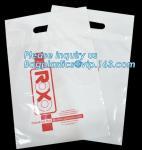 Custom printed die cut handle plastic bags manufacturer 12 x 15 inch light green