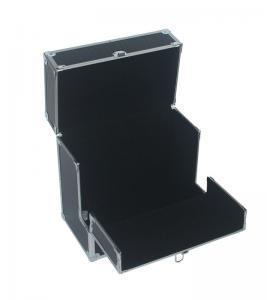 Quality Pro vinyl 50pcs carry case black record storage box EVA interior for music for sale