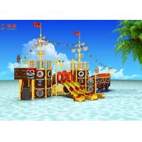 Quality Indoor Water Park Pool Water Slide Colorful Pirate Ship Heat Resistant Material for sale