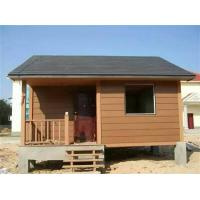 Quality Water - Proof Ecology Wood Cladding House In Walnut / Red Wood / Coffee Color for sale