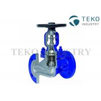 China DIN Bellow Seal Globe Valve Manual Operated For Steam And Thermal Oil on sale
