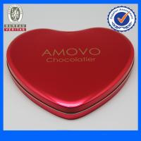 Fancy Pantone Heart Shaped Tin Gift  Boxes , Chocolate Tin Cans