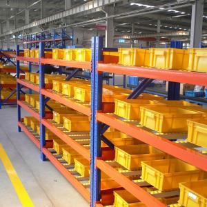 China OEM Medium Gravity Flow Racks / Spare Parts Industry Heavy Duty Metal Shelving Rack on sale