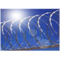 Stainless Steel Razor Blade Wire Fence 33 Loops / 56 Loops For Grass Bound