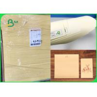 China 60gsm 70gsm Soft Color Good Writing Performance Cream Paper For Notebook on sale