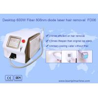 Quality Desktop white 600w fiber 808nm diode laser hair removal beauty machine FD06 for sale