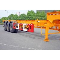 Buy Steel Tank Container Trailer Chassis / 40 ft Gooseneck Trailer 3 Axles at wholesale prices