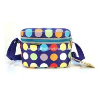 Quality Eco-Friendly Rectangle Neoprene Lunch Tote With Shoulder Stap For Food Storage for sale